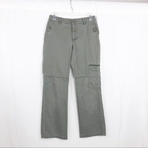 Old Navy Chino Cargo Pants, Size 4, Gray